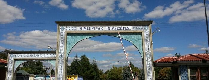 Kütahya Dumlupınar Üniversitesi is one of Yasemin Arzu'nun Kaydettiği Mekanlar.