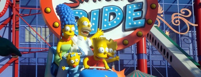 The Simpsons Ride is one of Locais salvos de Fabrício.