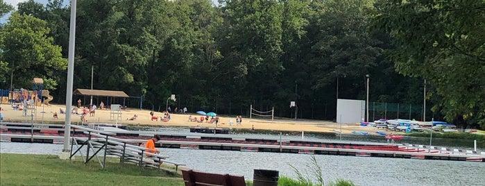 White Meadow Lake - Beach 1 is one of Family Fun.
