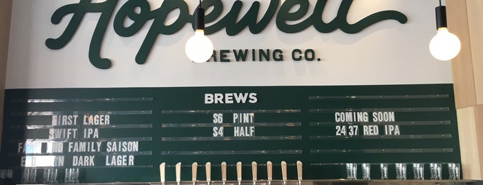 Hopewell Brewing Company is one of libations.