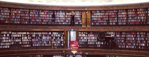 Stadsbiblioteket is one of Stockholm City Guide.