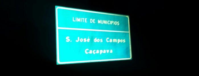 Divisa dos municípios São José dos Campos x Caçapava is one of Cristina : понравившиеся места.