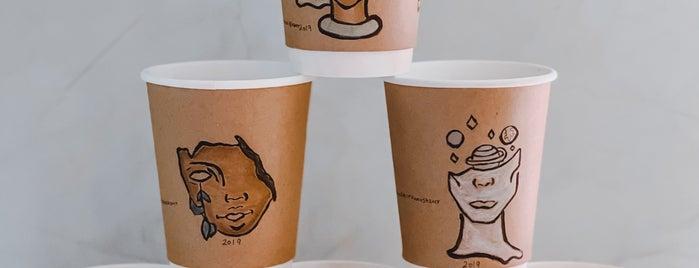 Kamanja Coffee is one of Coffee shops | Riyadh ☕️🖤.