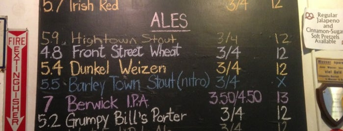 Berwick Brewing Company is one of The Beer Traveler's Bible.