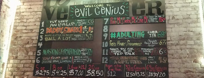 Evil Genius Beer Company is one of New-to-me Philly Breweries.