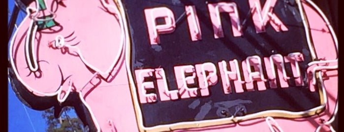 Pink Elephant Bar is one of Northern CALIFORNIA: Vintage Signs.