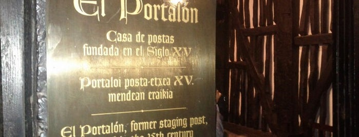 El Portalón is one of My restaurants - Euskadi.