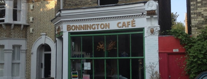 Bonnington Cafe is one of London date places.