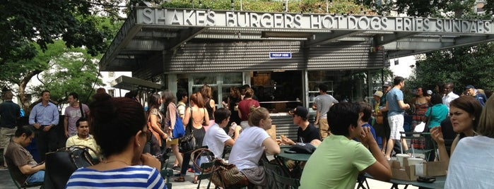 Shake Shack is one of Manhattan food.