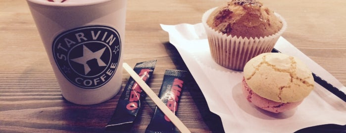 Starvin Coffee is one of Lugares guardados de Olga.