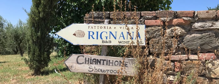 La Fattoria Di Rignana is one of Chianti Classico Tasting at Winery.