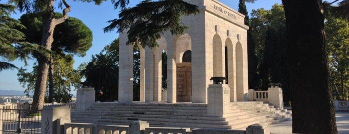 Mausoleo Ossario Gianicolense is one of Cemeteries in Rome ☠.