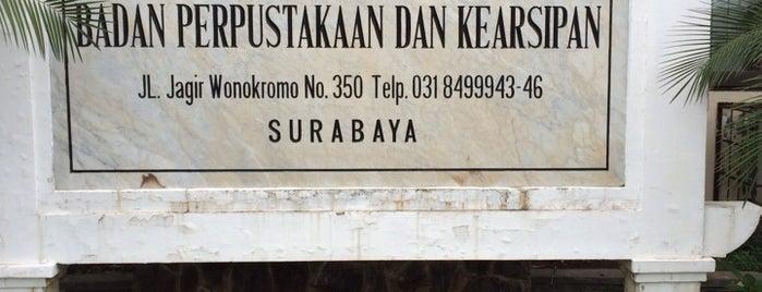 Badan Perpustakaan dan Kearsipan Provinsi Jawa Timur is one of Government of Surabaya and East Java.