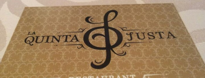 Restaurant La Quinta Justa is one of restaurants.