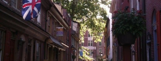 Elfreth's Alley is one of Philadelphia.