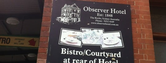 The Observer Hotel is one of Sydney's Best Pubs.