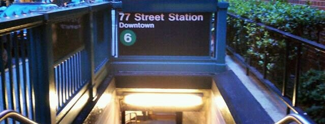 MTA Subway - 77th St (6) is one of Tempat yang Disukai Jason.
