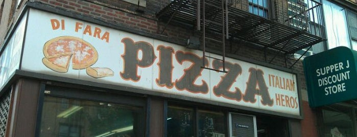 Di Fara Pizza is one of Top 10 Pizzas in NYC.