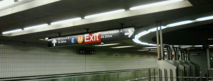 MTA Subway - Court Square (E/G/M/7) is one of IRT Flushing Line (7) <7>.