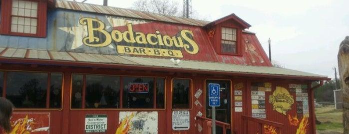 Bodacious BBQ is one of Orte, die James gefallen.