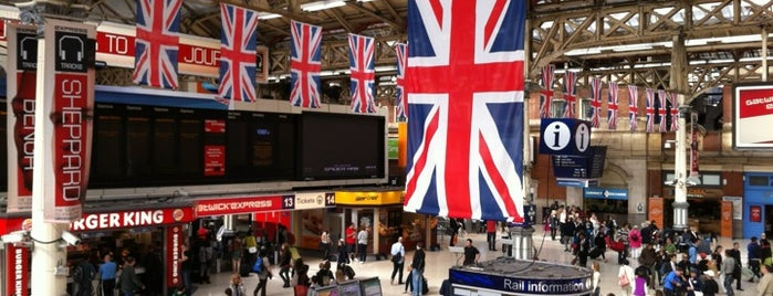 London Victoria Railway Station (VIC) is one of Tempat yang Disukai Irina.