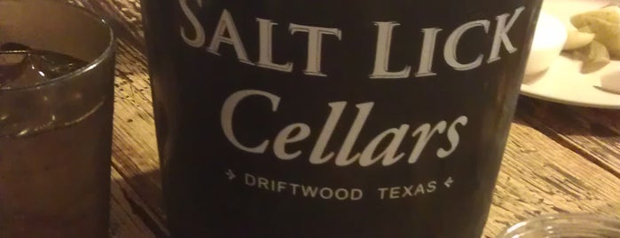 Salt Lick Cellars is one of Austin - CHECK!.