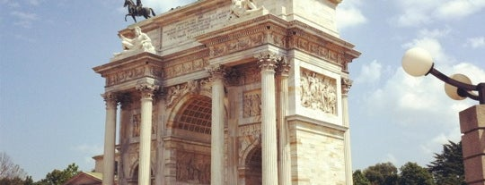 Arco della Pace is one of Milan Italy.
