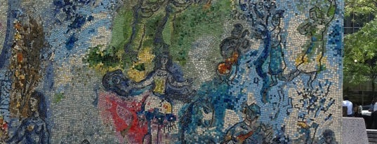 "Chagall Mosaic, ""The Four Seasons"" is one of Chicago."