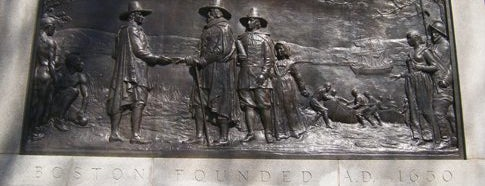 Boston Founders Monument is one of IWalked Boston's Public Art (Self-guided Tour).