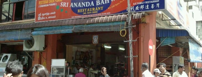 Sri Ananda Bahwan Restaurant is one of Penang.