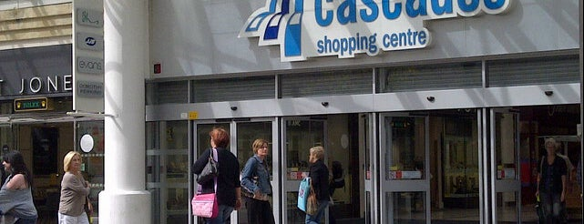 Cascades Shopping Centre is one of London.