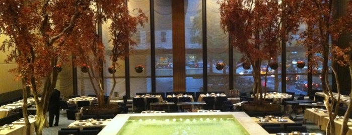 The Four Seasons Restaurant is one of dinner.