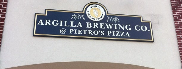 Argilla Brewing Co. @ Pietro's Pizza is one of United States of A.