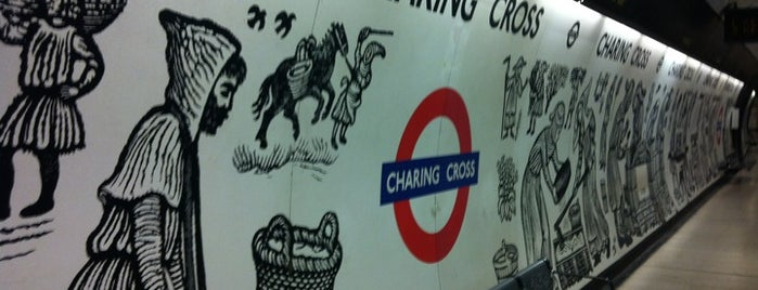 Charing Cross London Underground Station is one of m.