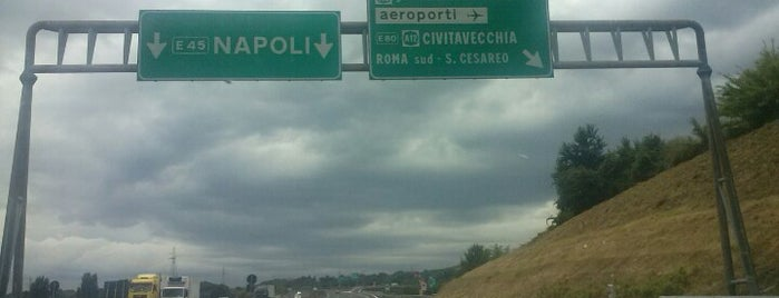 A1 - Roma Sud is one of Autostrada A1 - «del Sole».