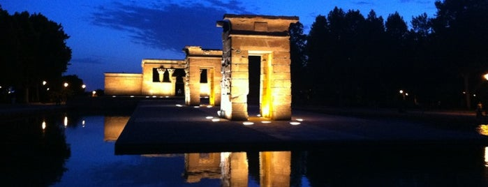 Templo de Debod is one of Madrid, Spain.