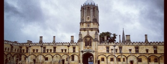 Christ Church is one of Oxford.