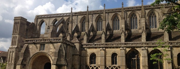 Malmesbury Abbey is one of England 1991.