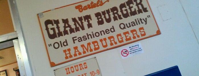 Bartel's Giant Burger is one of Locais curtidos por Melanie.