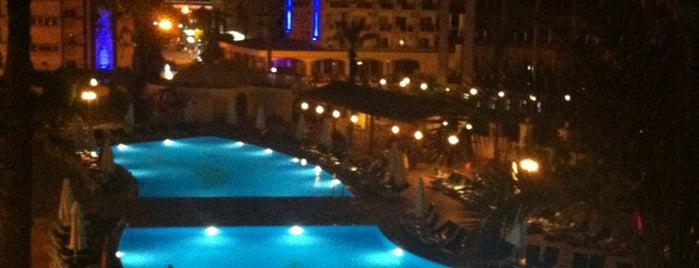 Pineta Park Deluxe Hotel is one of สถานที่ที่ Necip ถูกใจ.