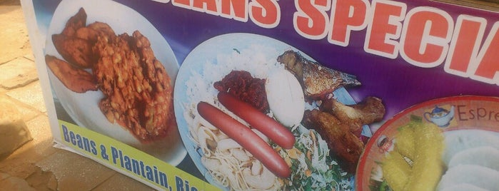 Aggies Beans Special stall is one of West Africa.