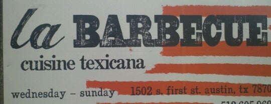 La Barbecue Cuisine Texicana is one of SXSW 2013.