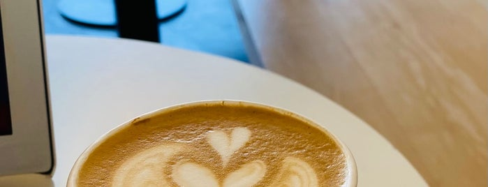 Blue Bottle Coffee is one of LA + SF.