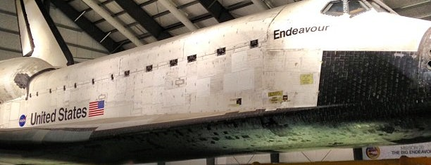 Space Shuttle Endeavour is one of LA.