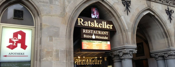 Ratskeller is one of Munich Faves.