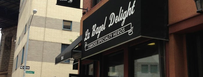 La Bagel Delight is one of breakfast?.