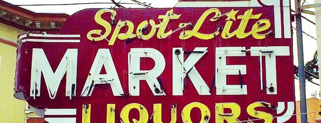 Spot Lite Market is one of Northern CALIFORNIA: Vintage Signs.