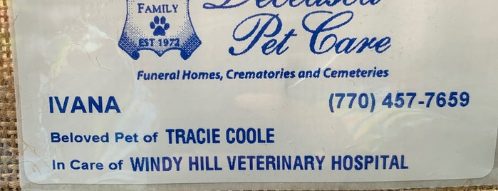 Windy Hill Veterinary Hospital is one of Favorite haunts.