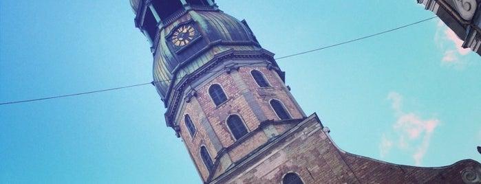 Pēterbaznīca | Sv. Pētera ev. lut. baznīca is one of Tempat yang Disukai Денис.