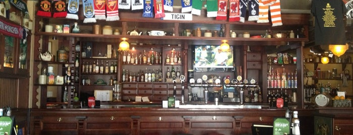 Tigin Irish Pub is one of Tempat yang Disukai Jason.